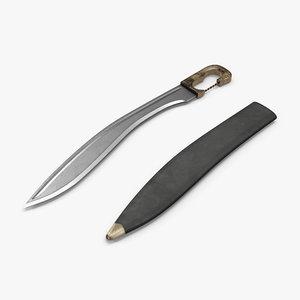 3d greek sword falcata sheath