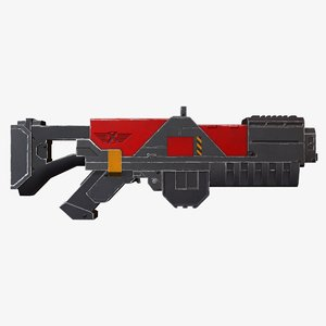 free laser rifle xcom 3d model