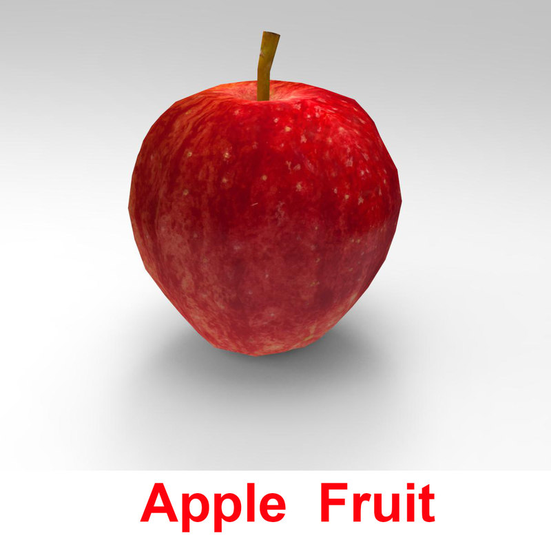 3d appl e fruit