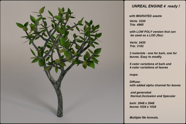 3d fantasy tree 12 model