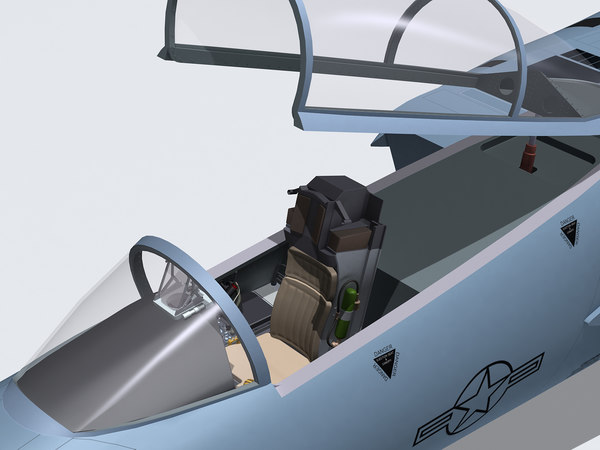 3d model f-15c cockpit