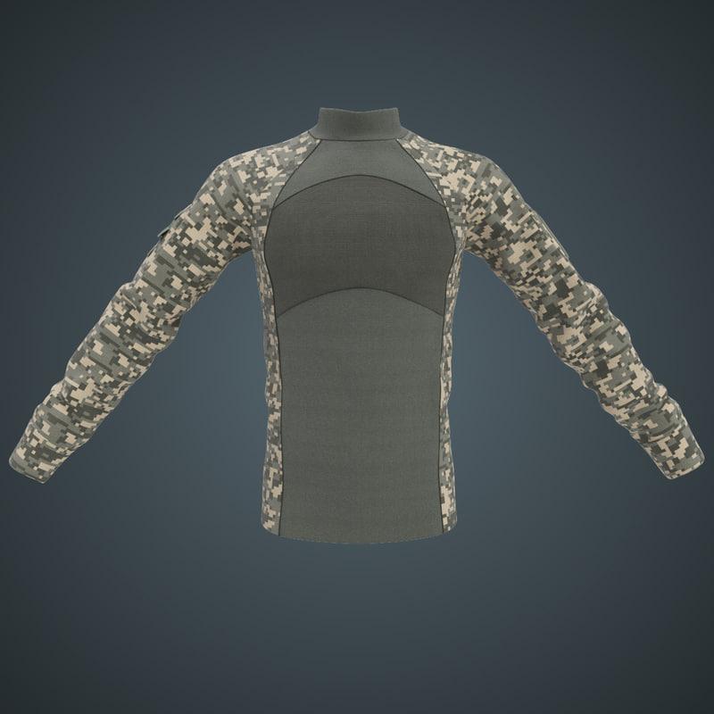military combat shirt 3d model