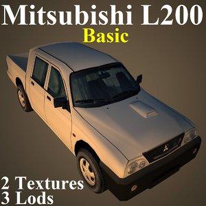3d model mitsubishi l200 basic