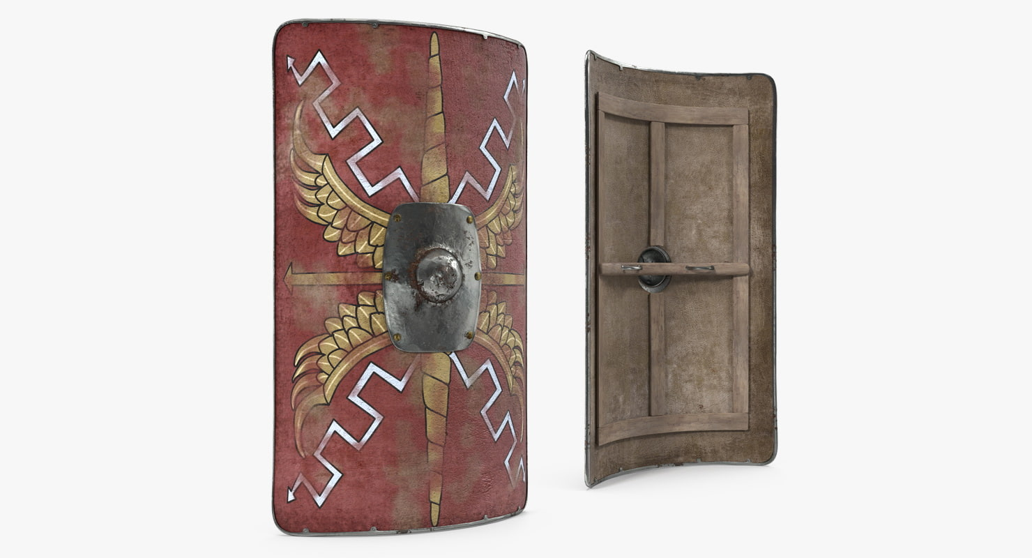 roman medieval shield 3d 3ds