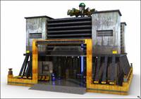 3d building futuristic model