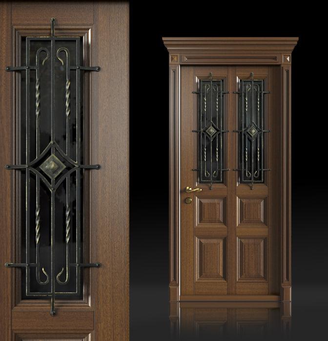 wrought iron door handles 3d max