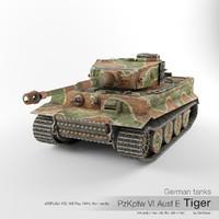 German tank PzKpfw VI Ausf E Tiger '134'