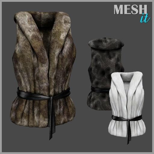 vest fur 3d model