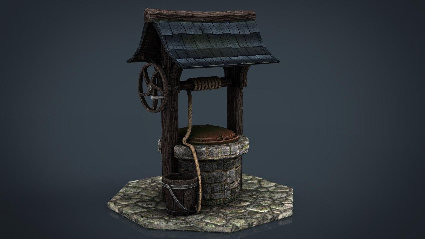 medieval water 3d obj