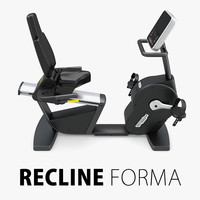 recline forma technogym 3d model