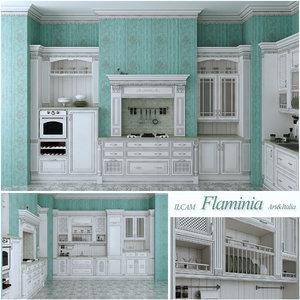 italian kitchen furniture italia 3d model