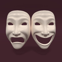 3d theatre mask
