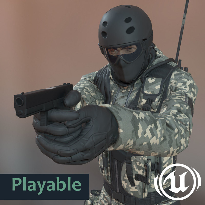 unreal engine 4 male 3ds