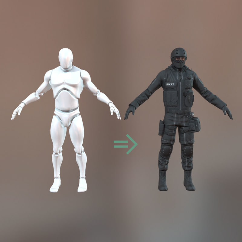SWAT Playeble Character Unreal Engine 4 100%BP