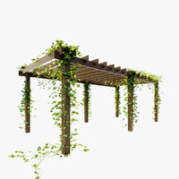 pergola ivy 3d model