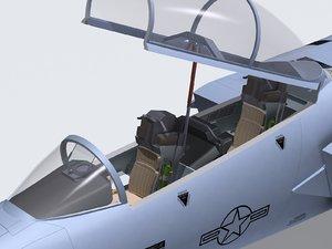 3d model f-15e cockpit