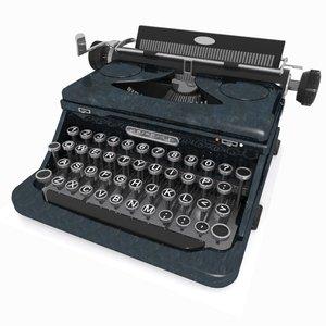 3d typewriter toon