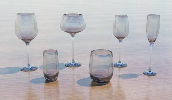 3d glasses set model