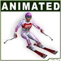 Female Skier CG