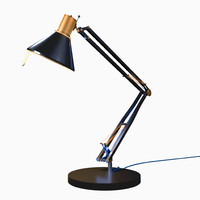 3d rigged desk lamp
