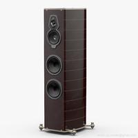 floorstanding sonus faber serafino 3d model