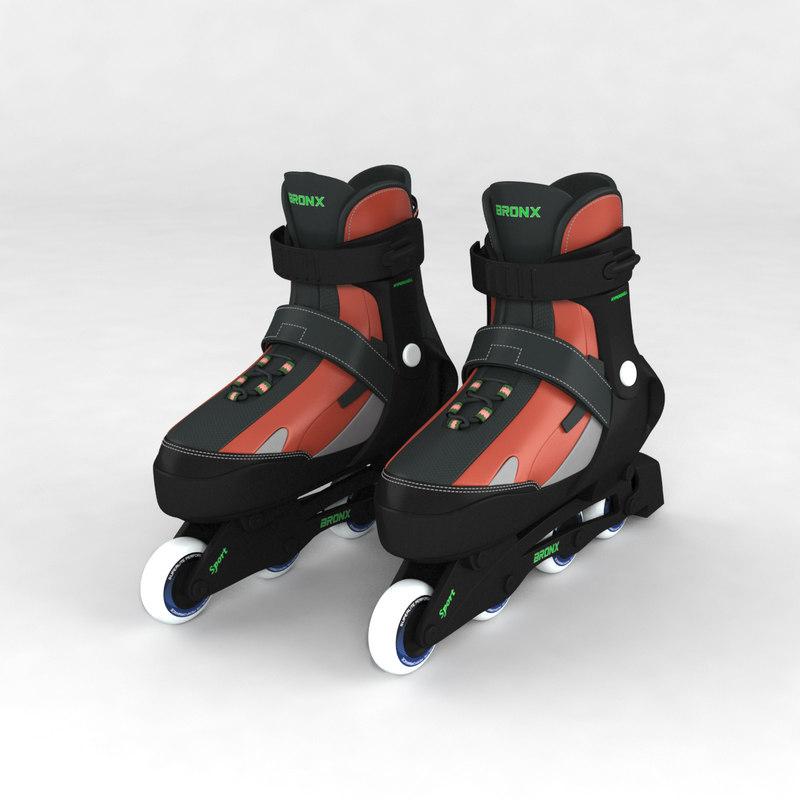inline roller skates 3d max