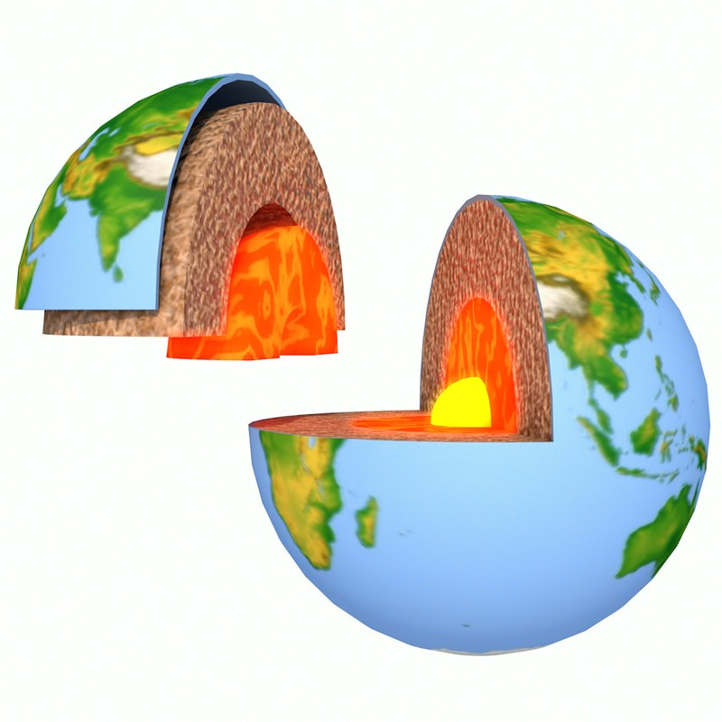 3d earth layers