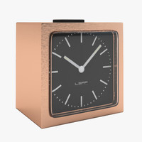 realistic block copper clock 3d model