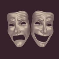 theater mask 3d obj