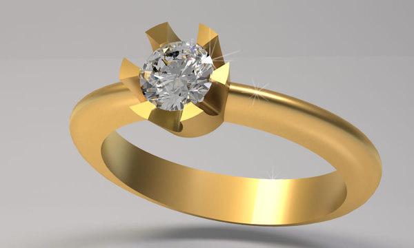 3d jewelery ring wedding diamond