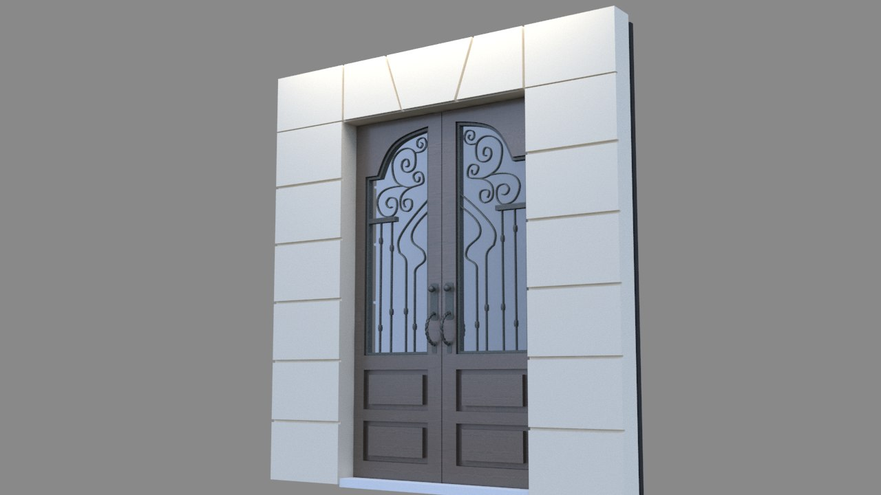 metal iron door v1 3d 3ds