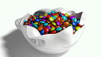 bowl candy goodies c4d free