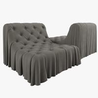 3d busnelli bohemian armchair model