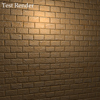 Yellow Masonry Cinder Blocks Texture with Bump Map