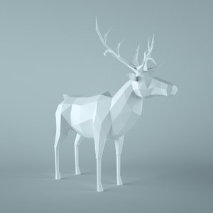 deer animal 3d obj