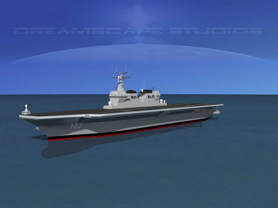 carrier hyuga class helicopter 3d max