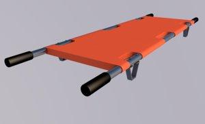 3d model stretcher hospital dme