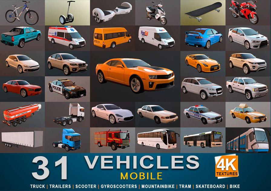3d model transport 1 mobile