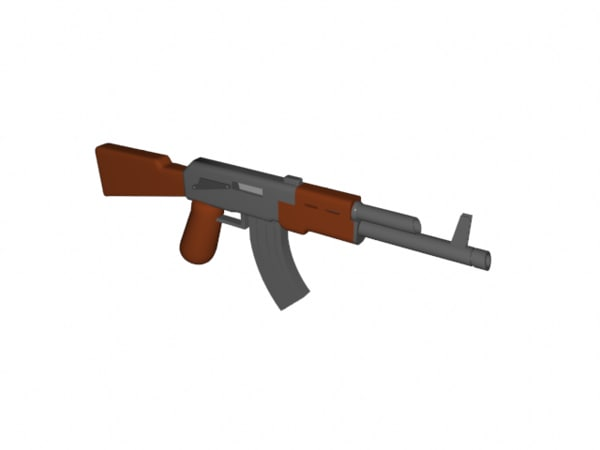 improved lego ak-47 3d model