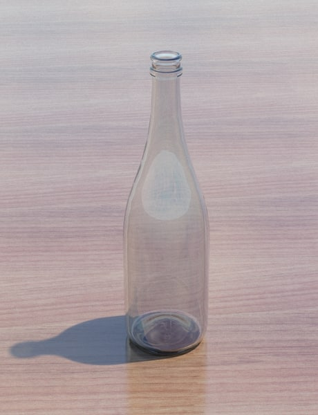 champagne bottle 3d 3ds