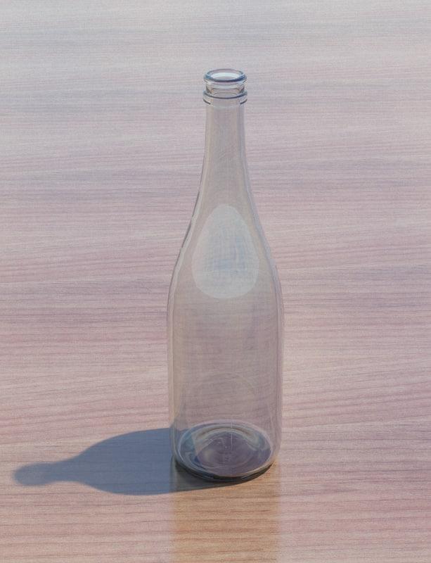 champagne bottle 3d 3ds