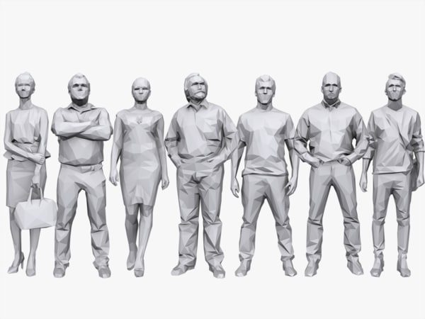 3d people pack casual model