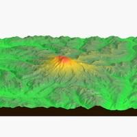 landscape mount rainer 3d model