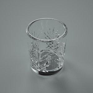 3d c4d whisky glass