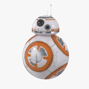 3d model bb-8 rigged