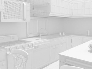 interior scene kitchen dining room x