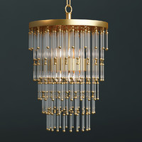 Photorealistic Restoration Hardware Luciano Chandelier