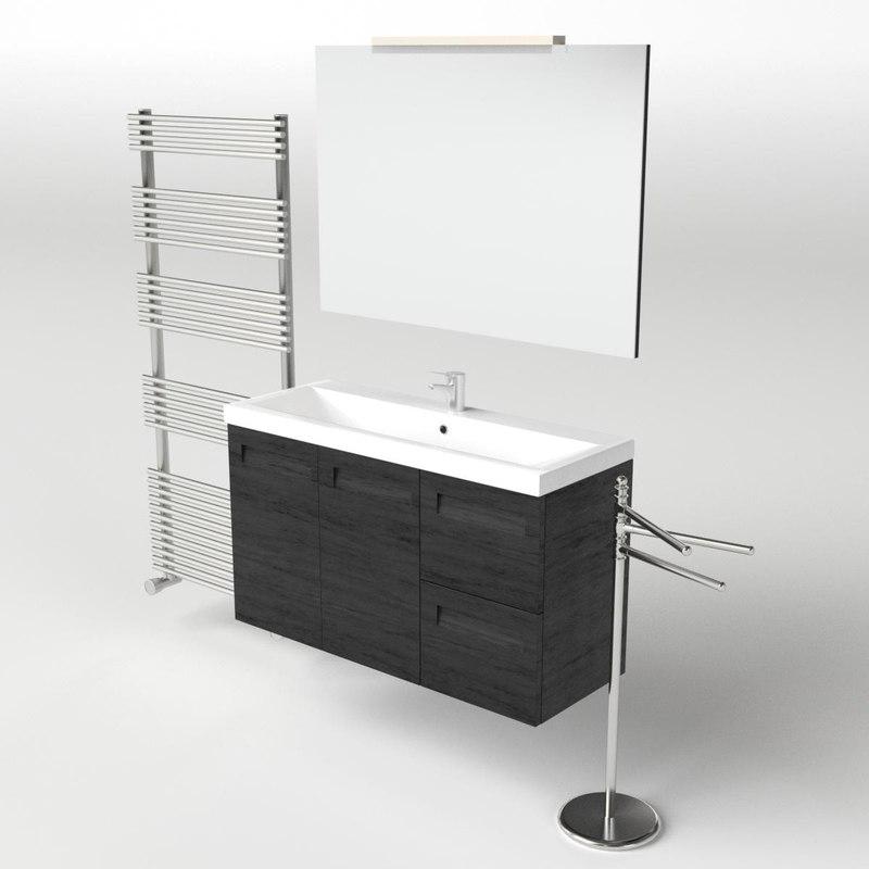 3d 3ds scene set washbasin