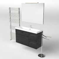 3d 3ds scene set washbasin