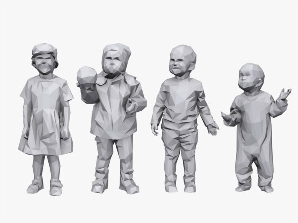 3d model stylized children child